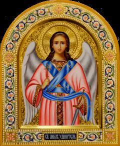 Рукописная икона Ангел Хранитель 92 (Размер 22*26 см)
