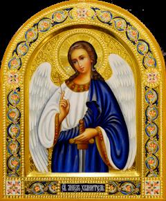 Рукописная икона Ангел Хранитель 94 (Размер 22*26 см)
