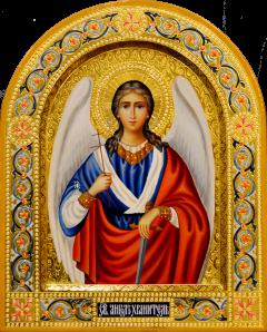 Рукописная икона Ангел Хранитель 93 (Размер 22*26 см)