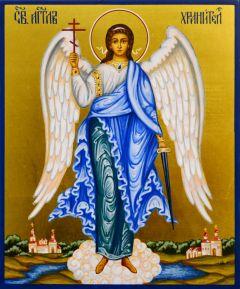 Рукописная икона Ангел Хранитель 95 (Размер 17*21 см)