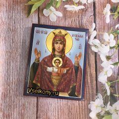 Рукописная икона Неупиваемая Чаша 9 (Размер 13*16 см)