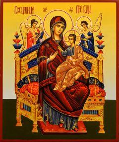 Рукописная икона Всецарица 12 (Размер 17*21 см)