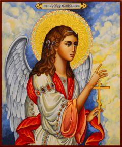 Рукописная икона Ангел Хранитель 97 (Размер 17*21 см)