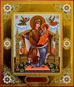 Рукописная икона Домостроительница (Экономисса) 4 (Размер 21*26 см)