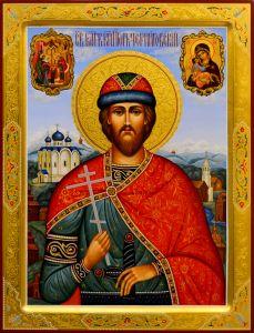 Рукописная икона Игорь Черниговский 7 (Размер 30*40 см)