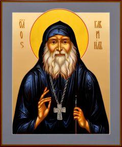 Рукописная икона Гавриил Ургебадзе 2 (Размер 17*21 см)