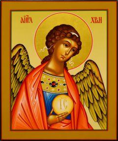 Рукописная икона Ангел Хранитель 99 (Размер 17*21 см)
