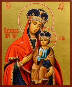 Рукописная икона Лубенская