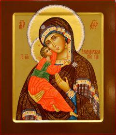 Рукописная икона Владимирская 25 (Размер 27*31 см)