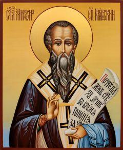 Рукописная икона Мирон Критский 4 (Размер 17*21 см)