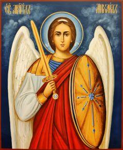 Рукописная икона Архангел Михаил 4 (Размер 21*25 см)