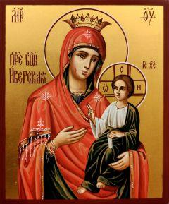 Рукописная икона Иверская 13