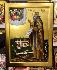 Рукописная икона Макарий Унженский