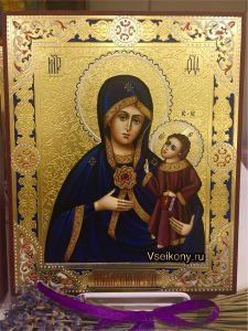 Рукописная икона Армянская с резьбой 5 (Размер 17*21 см)
