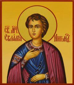 Рукописная икона Евлампий Никомидийский