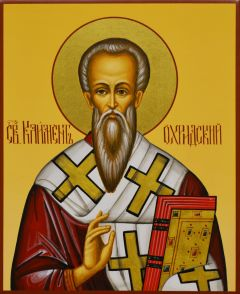 Рукописная икона Климент Охридский