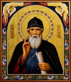 Рукописная икона Серафим Вырицкий 3