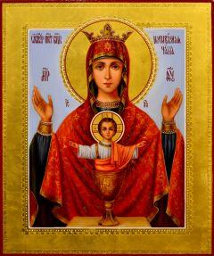 Рукописная икона Неупиваемая Чаша масло 11
