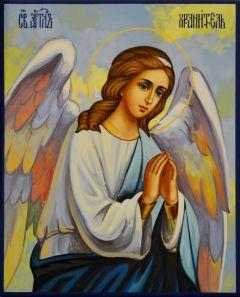 Рукописная икона Ангел Хранитель 101 (Размер 13*16 см)