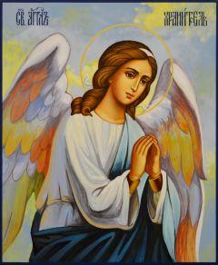 Рукописная икона Ангел Хранитель 102 (Размер 17*21 см)
