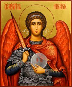 Рукописная икона Архангел Михаил 27 (Размер 17*21 см)