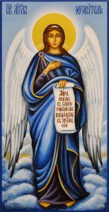 Живописная икона Ангела Хранителя (Размер 13*25 см)