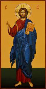 Рукописная икона Спас Вседержитель 59 (Размер 13*25 см)