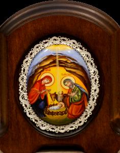 Икона из финифти Рождество Христово (Размер 11*14 см)