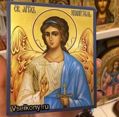 Рукописная икона Ангел Хранитель 108