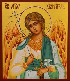 Рукописная икона Ангел Хранитель 109 (Размер 9*10.5 см)