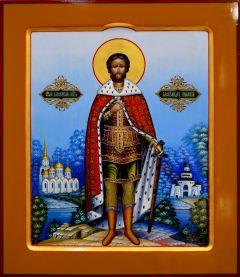 Рукописная икона Александр Невский 35 (Размер 27*31 см)