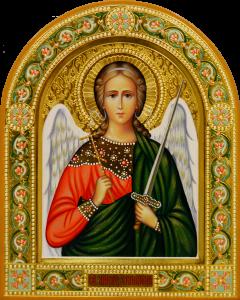 Рукописная икона Ангел Хранитель 107 (Размер 22*26 см)