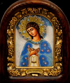 Икона из бисера Ангел Хранитель 4