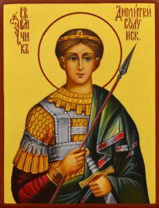 Рукописная икона Дмитрий Димитрий Солунский 7