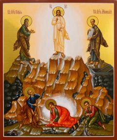 Рукописная икона Преображение Господне 2