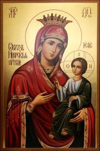 Рукописная икона Иверская 15