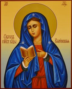 Рукописная икона Калужская
