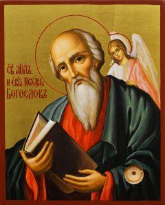Рукописная икона Иоанн Богослов 4