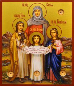 Рукописная икона Вера Надежда Любовь 18