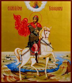 Рукописная икона Юрий Всеволодович