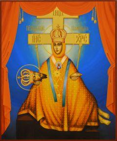 Рукописная икона Плакущая Шубинская