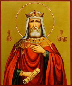 Рукописная икона Давид Царь