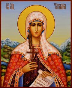 Рукописная икона Татьяна Татиана Римская 15 (Размер 17*21 см)