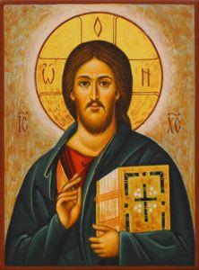 Рукописная икона Спас Вседержитель под старину 62