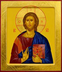 Рукописная икона Спас Вседержитель 64 (Размер 26.5*31 см)