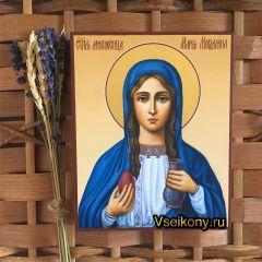 Рукописная икона Мария Магдалина 8