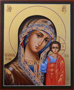 Рукописная икона Казанская