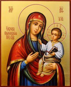 Рукописная икона Коложская