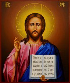 Рукописная икона Спасителя 5