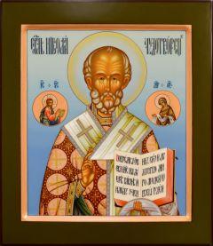 Рукописная икона Николай Чудотворец 98 (Размер 27*31 см)